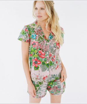 Pretty PJ Shirt. Pink Love Poppy