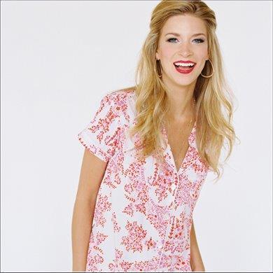 Pretty PJ Shirt. Sweet Love and Yonderflies