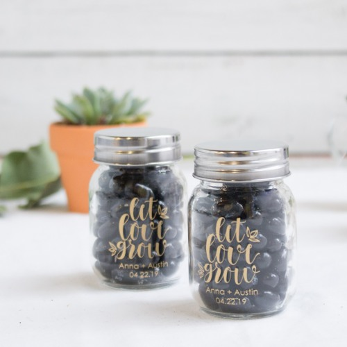 Printed Mini Mason Jars