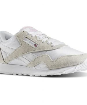 Reebok Women's Classic Nylon in White / Light Grey Size 9 - Casual,Lifestyle Shoes