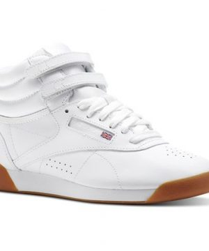 Reebok Women's Freestyle Hi in White / Gum Size 5 - Fitness Shoes