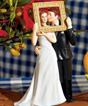 Romantic Couple Wedding Cake Topper