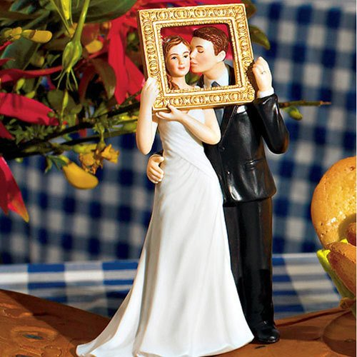 Romantic Couple Wedding Cake Topper