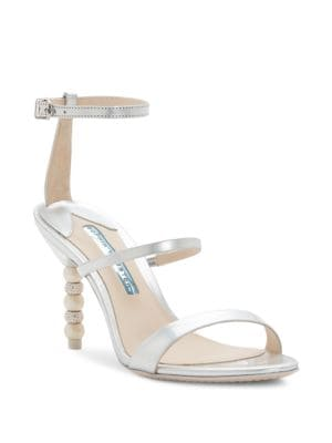 Rosalind Strappy Crystal & Faux-Pearl Heel Sandals
