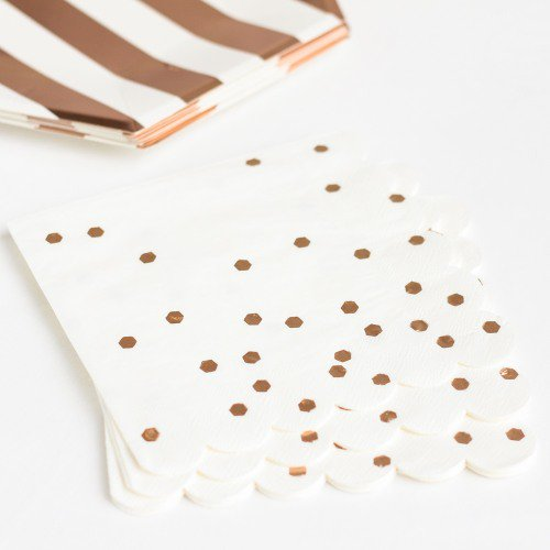 "Rose Gold 7"" Napkins"