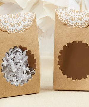Rustic Kraft Tent Favor Box (Set of 12)
