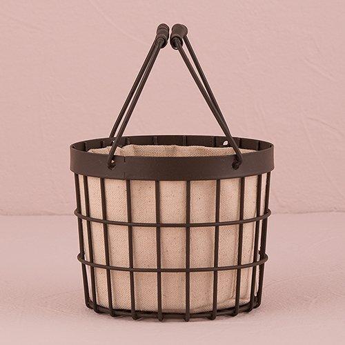 Rustic Wire Flower Basket