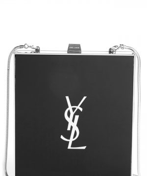 Saint Laurent Tuxedo Plexiglass Clutch -