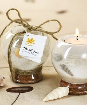 Sand & Shell Tea Light Holder