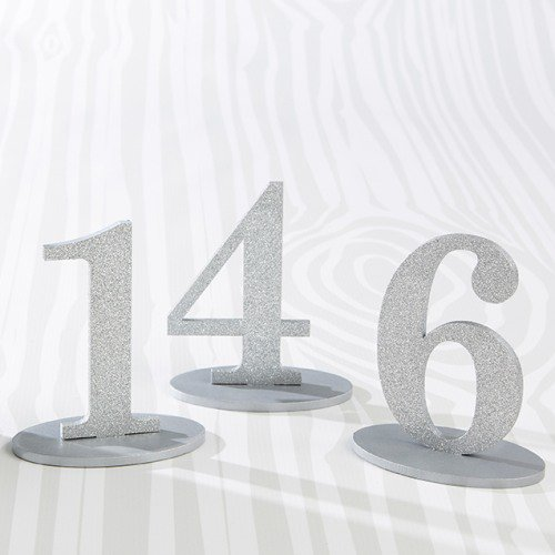 Silver Glitter Acrylic Table Numbers