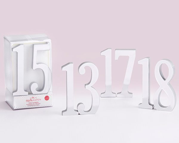 Silver Mirror Table Numbers (13-18)