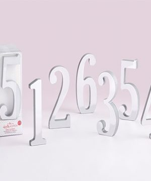 Silver Mirrored Table Numbers