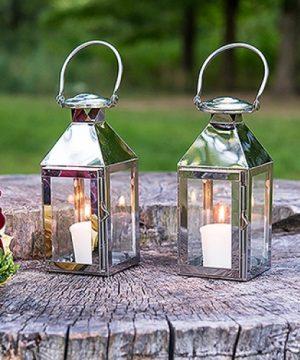 Silver Stainless Lantern