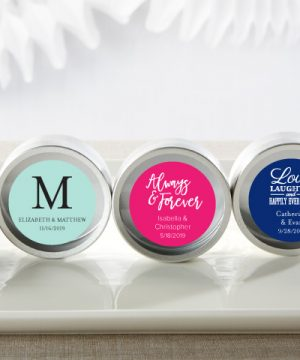 """""""Simply Sweet"""" Personalized Round Candy Tin (Set of 12)"""
