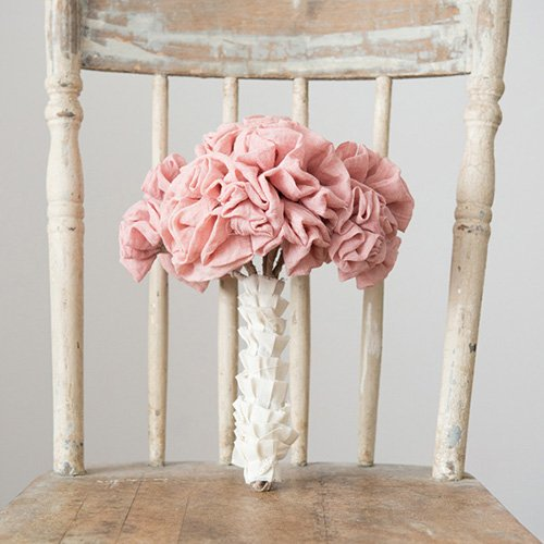 Single Stem Fabric Ruffle Flower