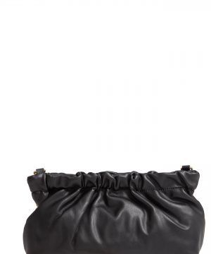 Sole Society Tyll Faux Leather Clutch - Black