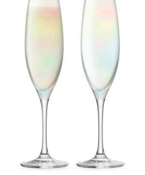 Sorbet Two-Piece Glass Champagne Flute Set