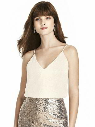 Special Order After Six Shimmer Bridesmaid Top T1507LS