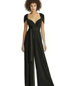 Special Order Twist Wrap Shimmer Jumpsuit