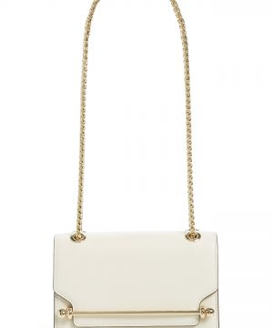 Strathberry Mini East/west Leather Crossbody Bag - Ivory
