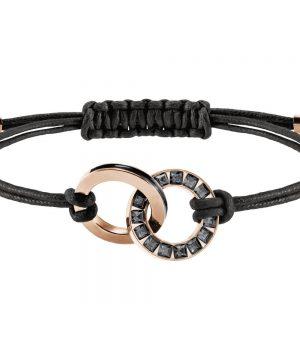 Swarovski Alto Bracelet, Gray, Rose gold plating