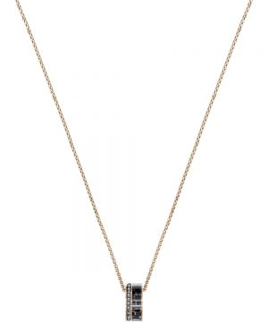 Swarovski Alto Pendant, Gray, Rose gold plating