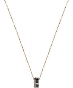 Swarovski Alto Pendant, Gray, Rose gold plating