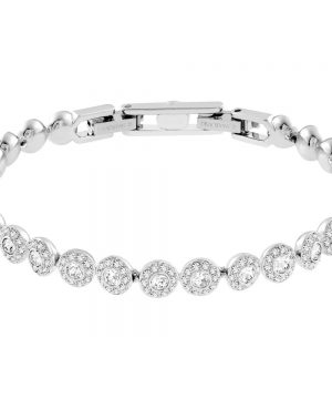 Swarovski Angelic Bracelet, White, Rhodium Plating