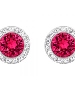 Swarovski Angelic Pierced Earrings, Red, Rhodium plating
