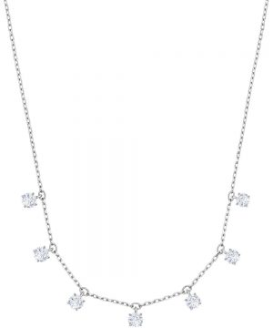 Swarovski Attract Choker, White, Rhodium plating