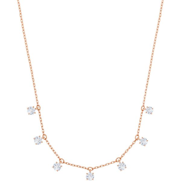 Swarovski Attract Choker, White, Rose gold plating