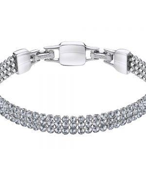 Swarovski Clim Bracelet, Gray, Rhodium Plating