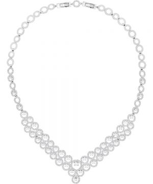 Swarovski Creativity Necklace, White, Rhodium plating