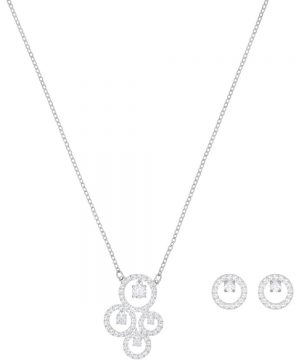 Swarovski Creativity Set, White, Rhodium plating