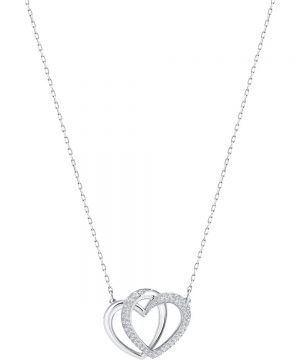 Swarovski Dear Necklace, Medium, White, Rhodium plating