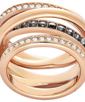 Swarovski Dynamic Ring, Gray, Rose Gold Plating