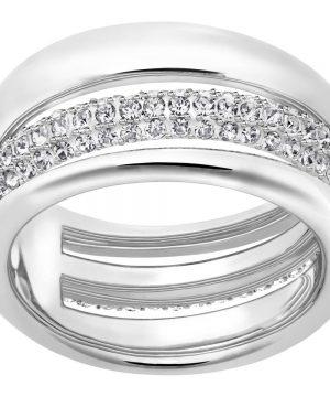 Swarovski Exact Ring, White, Rhodium Plating