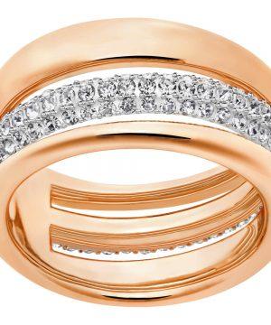 Swarovski Exact Ring, White, Rose Gold Plating