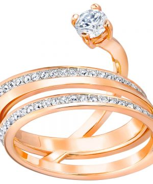 Swarovski Fresh Ring, Medium, White, Rose Gold Plating