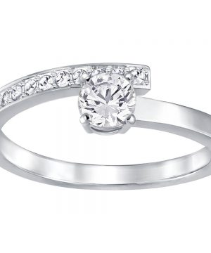 Swarovski Fresh Ring, Small, White, Rhodium Plating