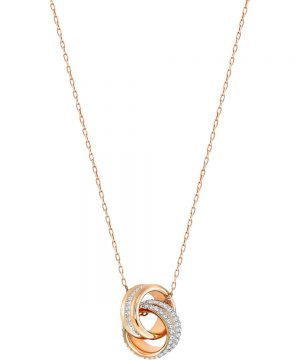 Swarovski Further Pendant, Small, White, Rose gold plating