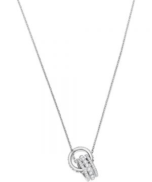 Swarovski Further Pendant, White, Rhodium plating