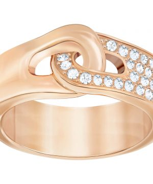 Swarovski Gallon Ring, White, Rose Gold Plating