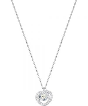 Swarovski Generation Pendant, Small, Blue, Rhodium plating