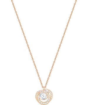 Swarovski Generation Pendant, Small, White, Rose gold plating