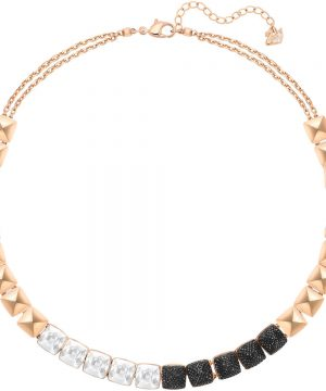 Swarovski Glance Necklace, Multi-colored, Rose gold plating
