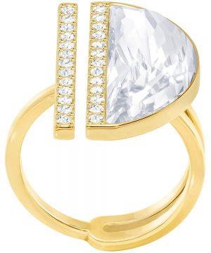 Swarovski Glow Ring, White, Gold Plating