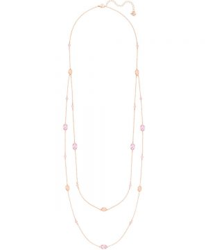Swarovski Grass Strandage, Pink, Rose gold plating