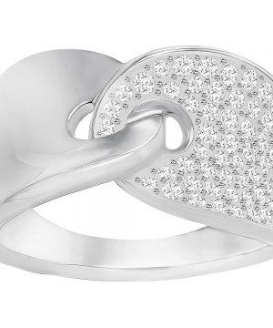 Swarovski Guardian Ring, White, Rhodium Plating