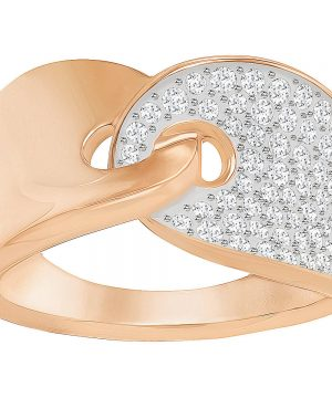 Swarovski Guardian Ring, White, Rose Gold Plating
